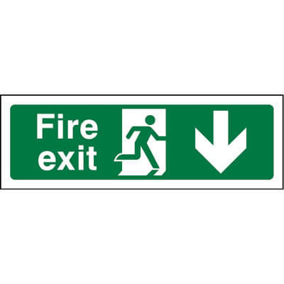 Fire Exit Below Sign