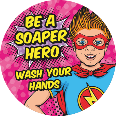 hand wash sticker for schools