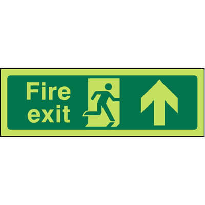 Fire Exit Ahead Glow-In-The-Dark Sign