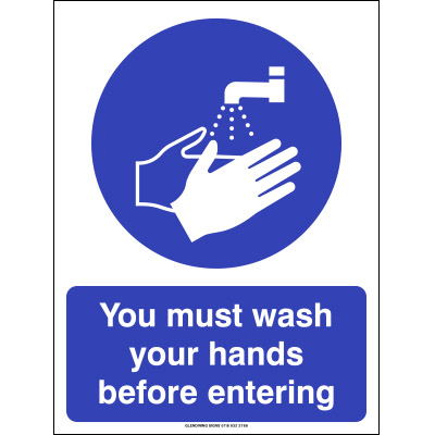 hand wash signs for schools