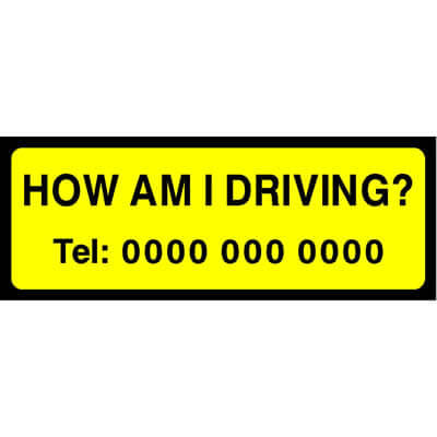 How am I driving? sticker