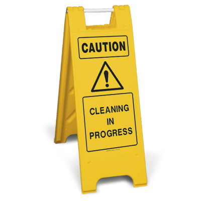 Cleaning In Progress Floor Sign Folding Cleaning Signs