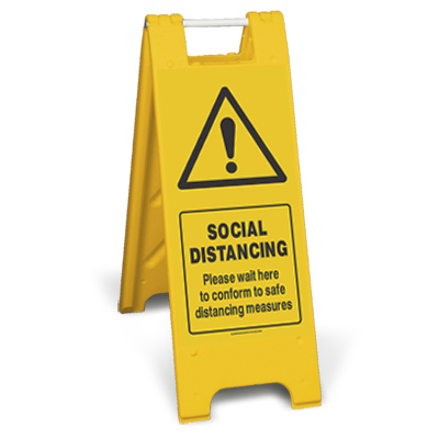 Social Distancing Sign Stand