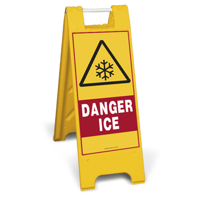 Danger Ice Sign Stand