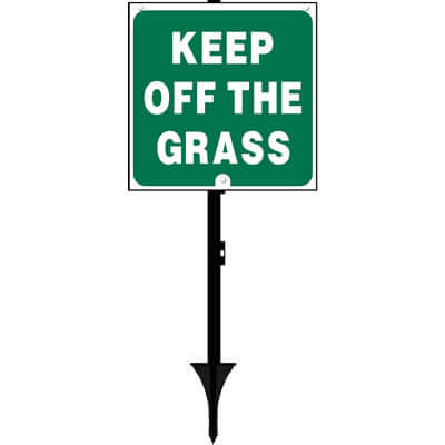 Keep off the grass sign