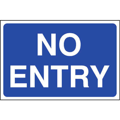 No entry car park sign