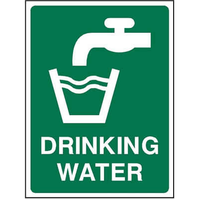 Drinking Water Sign | UK School Signs
