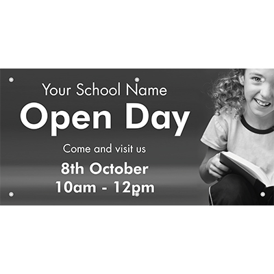 Open day school banner
