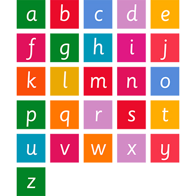 Square Letter Sign Set A-Z Alphabet