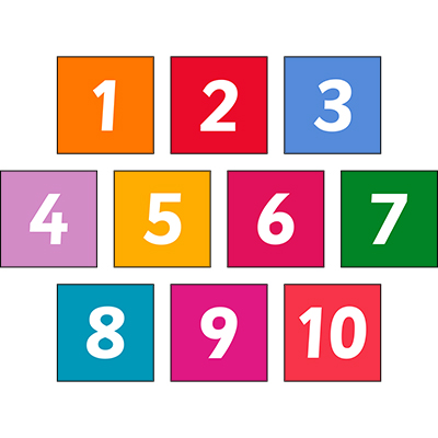 Square Number Sign Set 1-10