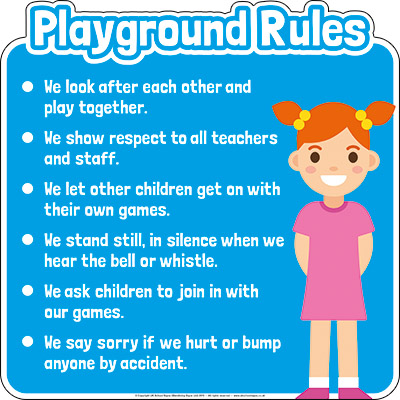 Playground Rules Sign Board