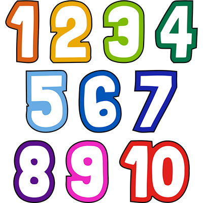 Fun Number Sign Set 1-10
