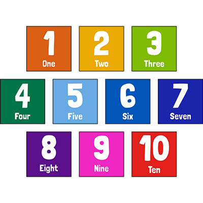 Square Fun Number Sign Set 1-10