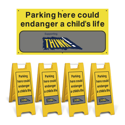 Think! Road Safety Sign Pack - Large